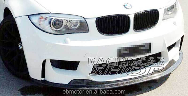 NEW STYLE REAL CARBON FIBER FRONT LIP SPOILER For BMW E82 1-SERIES 1M B041