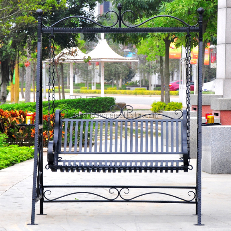 Outdoor Patio Garden Wrought Iron Swing Buy