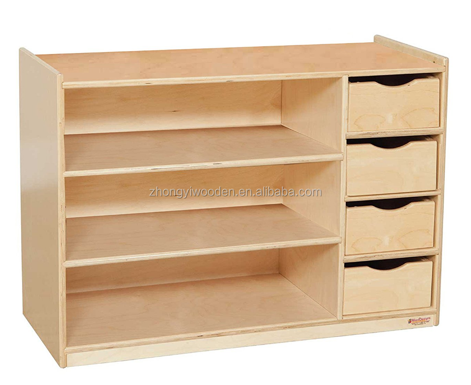 Trade assurance FSC SA8000 BSCI wood shelf drawer desk cabinet organizer