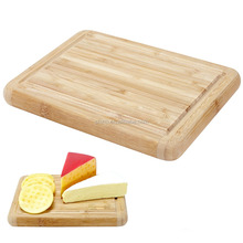 Premium Bamboo Cutting Board and Serving Tray with Juice Groove