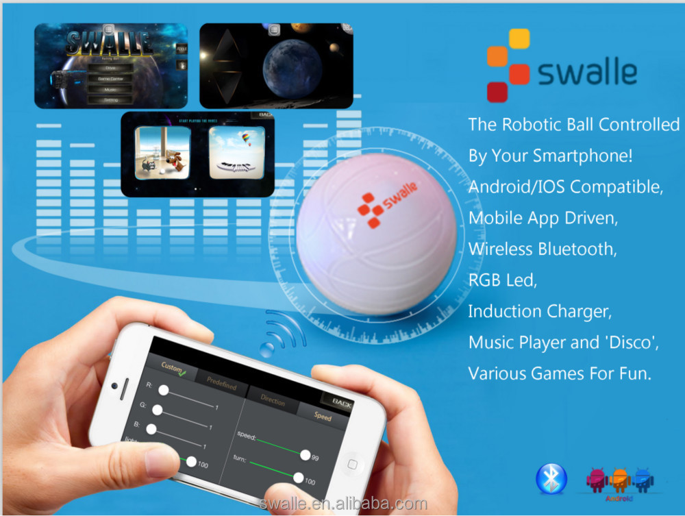 Ios And Android App Control Swalle Smart Phone Robot - Buy Smart Phone  Robot,Radio Control Mini Robots,Android Robot Toy Product on Alibaba com