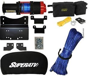 Honda Pioneer 700 2014+ Winch,3500lb Winch Mount,Winch Cover,Accessory Kit,Cable Upgrade