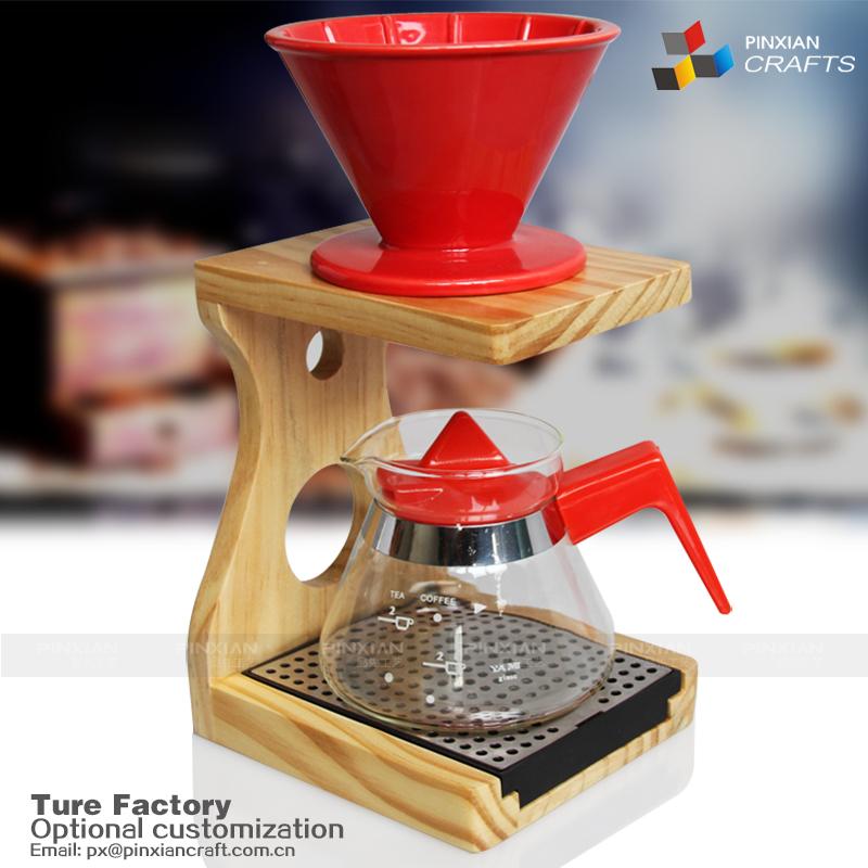 Simple Grille En Bois Cadre Filtre Cafétasse Titulaire Caféporte - Porte filtre café