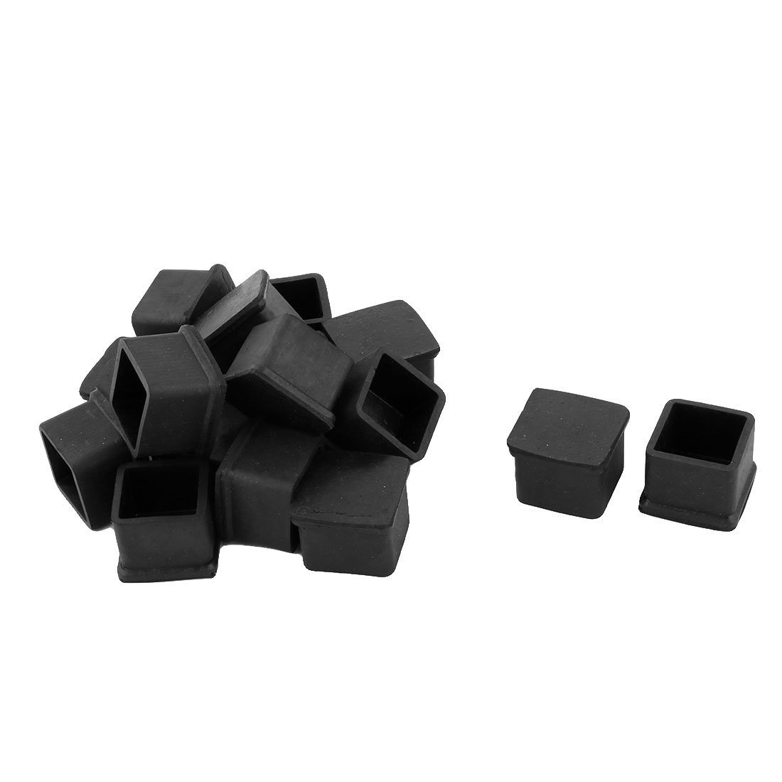Rubber Square Covers Furniture Table Leg Foot Protectors 50x50mm Black Year-End Bargain Sale Furniture Legs