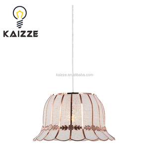 Zhongshan classical copper metal With Acrylic Hotel Pendant Hanging Lamp