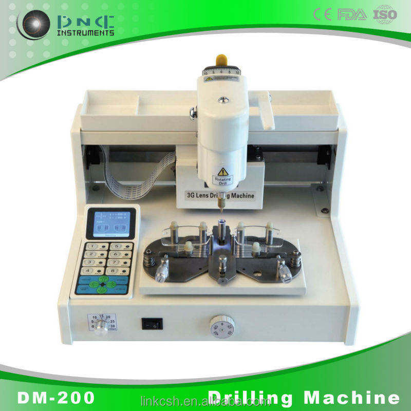 DM-200 optical instruments drilling machine for lens
