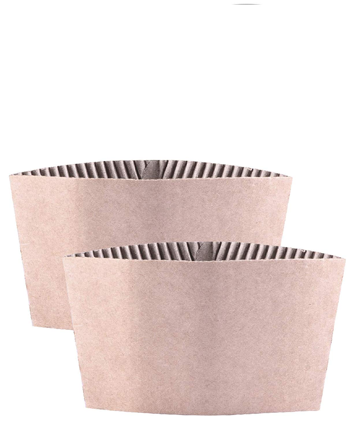 Cup Sleeve Luckypack Corrugated jacket Cafe Drink 12oz 16 oz 20 Ounce Disposable Paper Coffee Cup Sleeves Reusable Holder Cardboard for Hot Drinks 500 Count