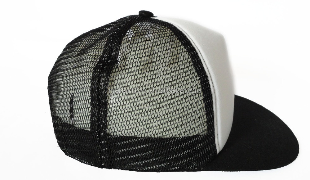 937096d77a6 New Vintage 2 Tone Foam Trucker Hat Cap Solid Black Mesh Cap White Plain  Cotton Foam