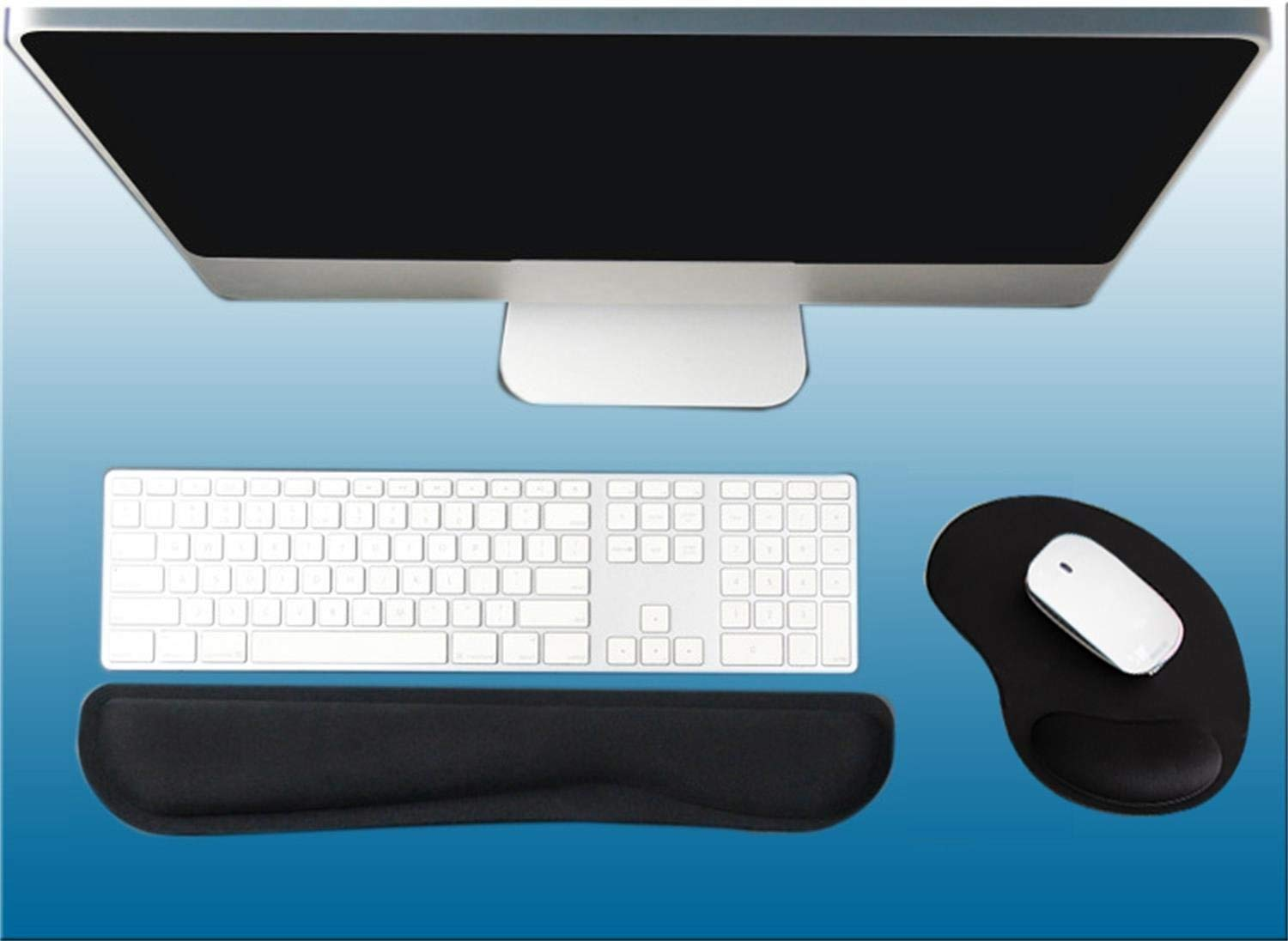 4423a5fc309 Gel Keyboard Wrist Rest Pad Kit-Keyboard Pad and Ergonomic Mouse Pad with  Wrist Support