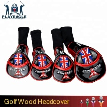 Custom Embroidery Logo Golf Club Hybrid Club Head Covers, Wood Driver UT Headcovers 1, 3, 5 ,Fairway Woods Golf Set 4Pcs/Lots