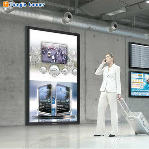 Outdoor advertising LED light box poster board