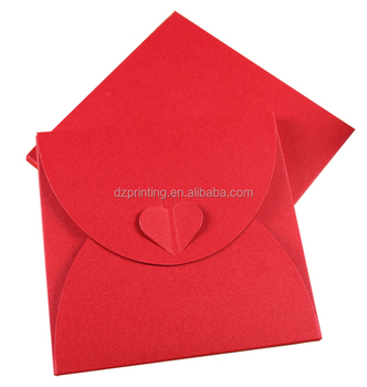2019 New Creative Butterfly Wedding Red Case Envelope Custom Packaging CD/DVD Sleeve