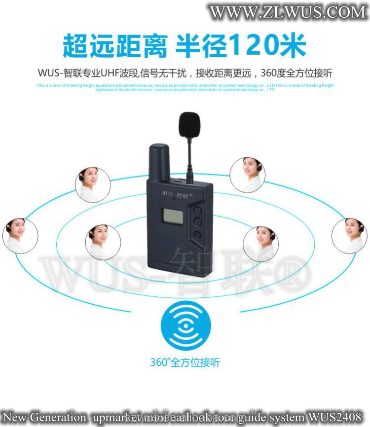 Newest design mini Digital audio system tour guide/audio guides equipment with USB charge function