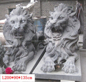 life size outdoor bronze or brass lions statue for main entrance decoration