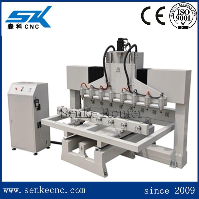 China Supplier Multi Heads 4 Axis Cnc Router Rotary Machine Buddha ...