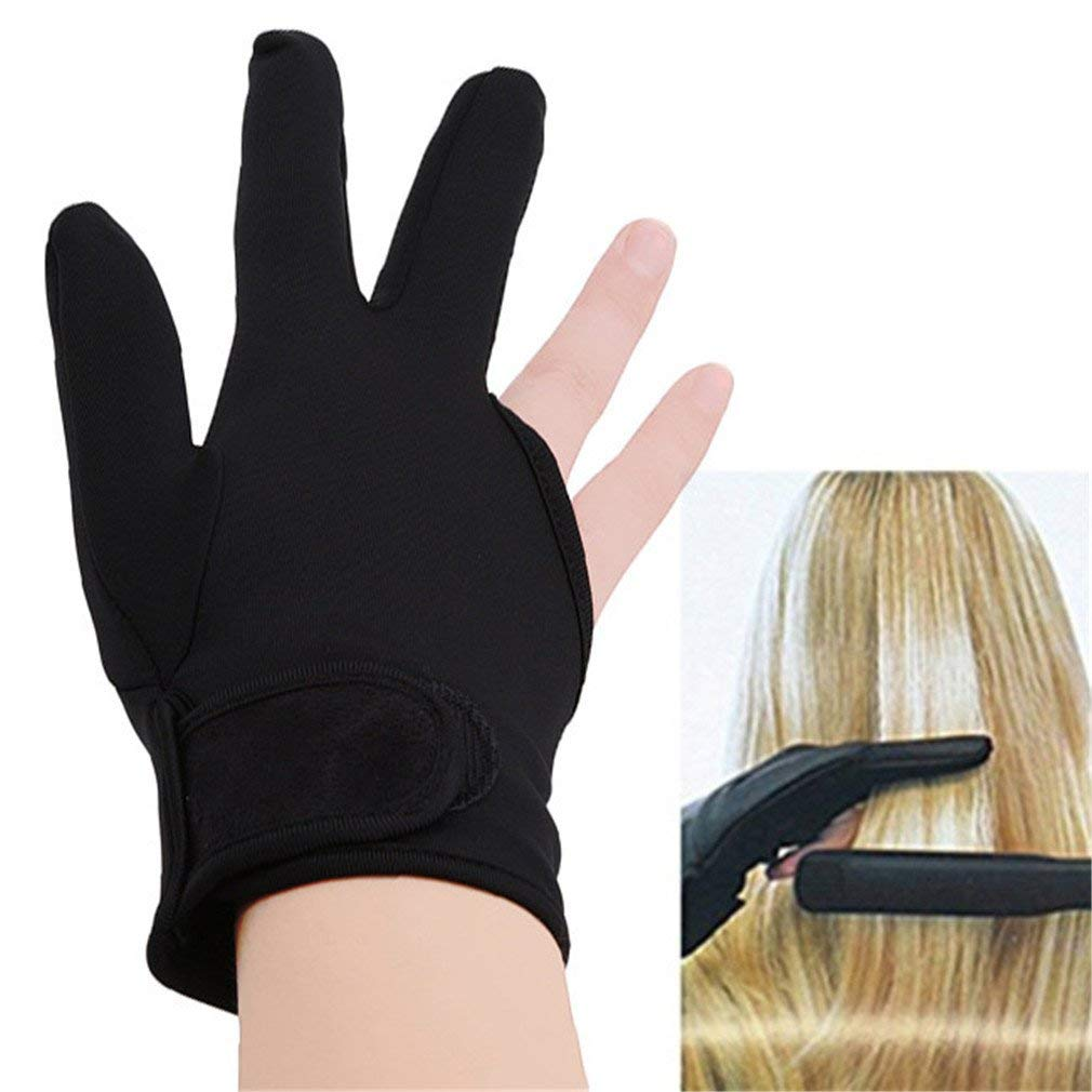 Dolland Hairdressing Three Fingers Glove Heat Resistant Hair Straightening Curling Finger Glove Styling Hairdressing Accessories