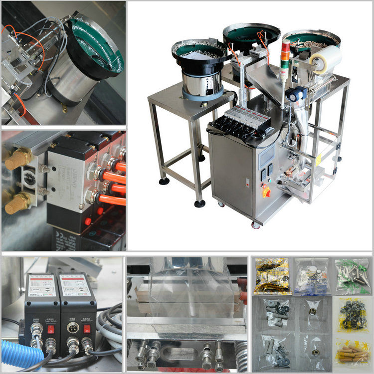 packaging machine for irregular nuts and screw, nuts bolts nails counting packing machine