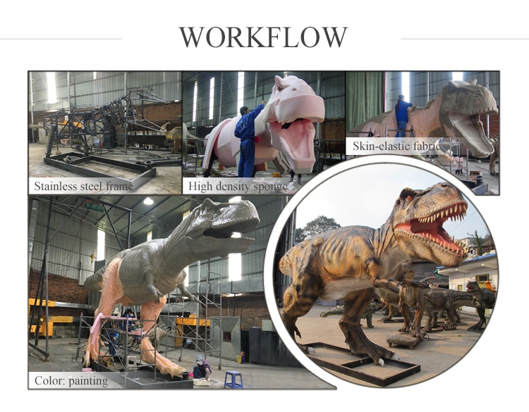 OAJ 8558 2017 hot sale high quality animatronic dinosaur statue