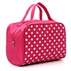 Wholesale Portable 600D White Dot Toiletries Bag Travel Cosmetic Pouch for Promotion