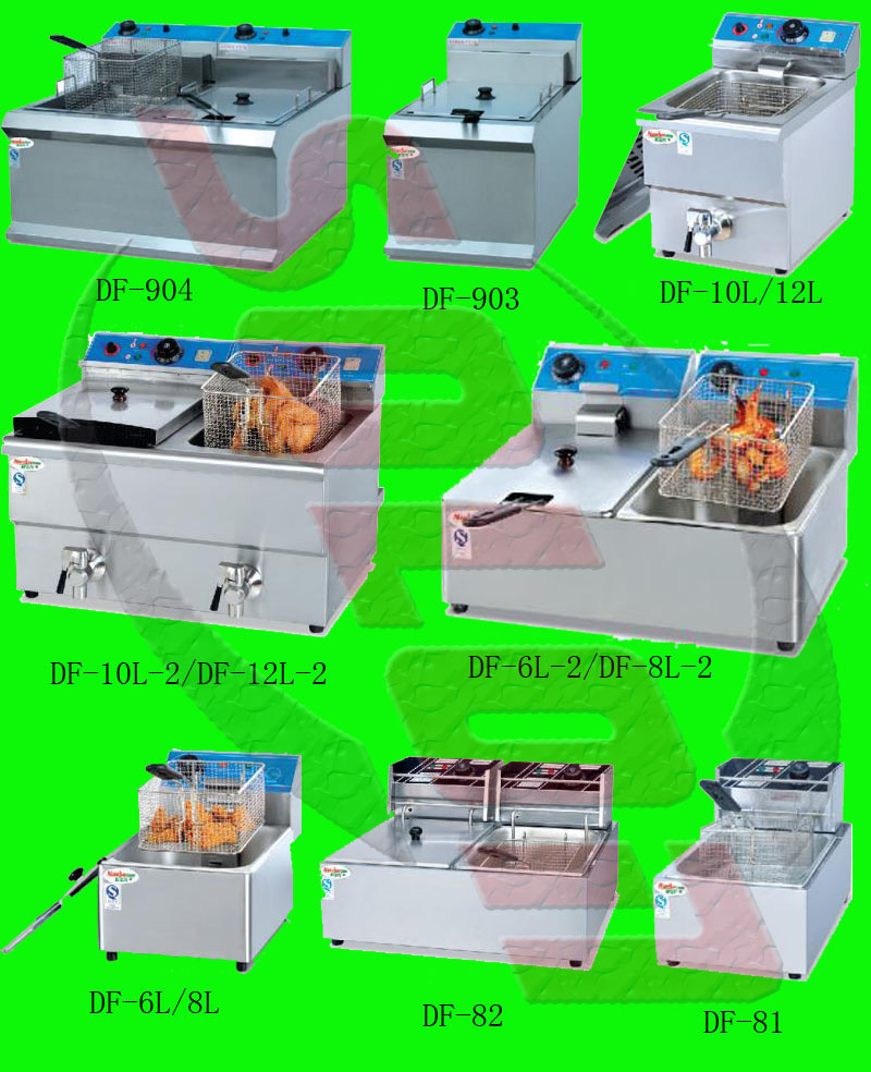 Stainless steel solon donut fryer machine 6l deep fryer small gas fryer