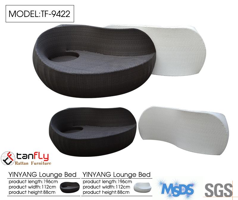 Modern Chaise Lounge Furniture Yin Yang Outdoor Dual Lounger Buy