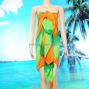 6b3594e0209fae 2018 Nieuwe cover up strand jurk sarong tops wrap chiffon strand pareo