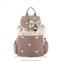 fashion canvas leisure shoulder school girl's lovely backpack bag handbag
