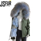 wholesale fashion women hoodie coat ladies winter hooded raccoon fur jacket coats women