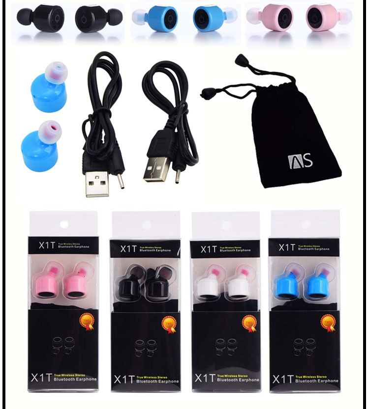 Mini wireless Bluetooth earphones for iphone 8 bluetoooth earset X1T