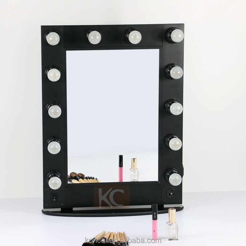 Professional Aluminum Beauty Salon Mirror Makeup With Lights