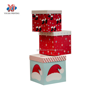 manufacturer empty colorful decorative christmas gift boxes with lids
