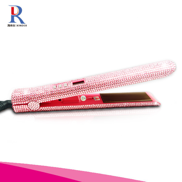 Rhinestone Best quality of Professional hair straightener flat iron