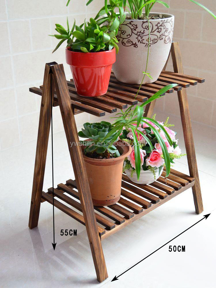 Pot Stand Designs : Wooden flower stand pot stands