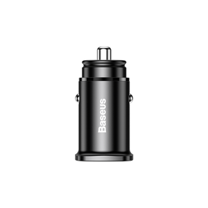 Baseus Fast 30W Mini PD 3.0 QC4.0 Dual USB Type-C Port Car Charger Adapter For Mate 20 Find X