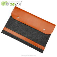 Leather Laptop sleeve case Notebook Bag Cover For Mac book Air Pro Retina 11 12 13 15 Inch Laptop Cases