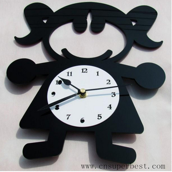 Funny design acrylic wall clock for promotion