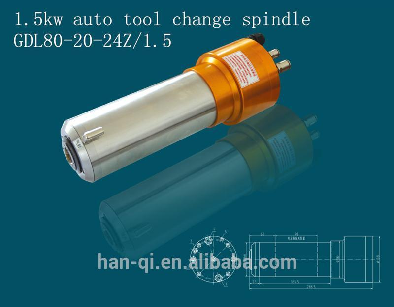 spindle for cutting pcb atc spindle motor cnc router with water-cooling
