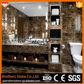 Imported Marble Tile Bathroom Decoration Spanish Dark Emperador - Marble slab for bathroom vanity