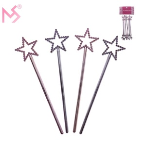 Wholesale valentine's day gifts plastic plating pentagram fairy wand