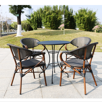 Amazing Aluminum Frame Bamboo Painting Outdoor Chair And Table Buy Outdoor Metal Table And Chairs Aluminium Chair Outdoor Metal Table And Chairs Product On Inzonedesignstudio Interior Chair Design Inzonedesignstudiocom
