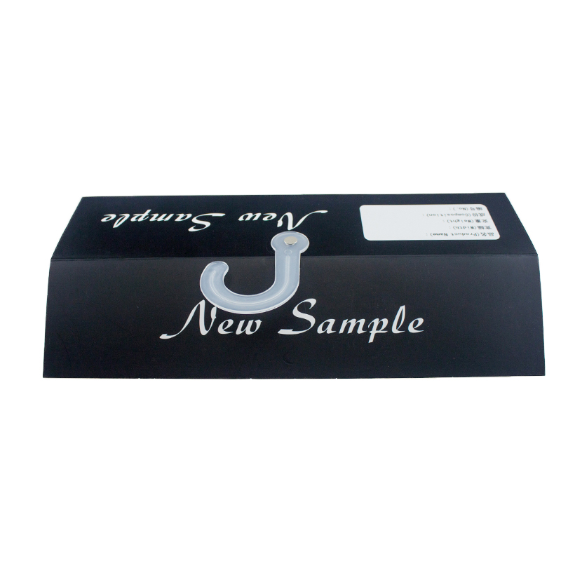 Stock Cheap Black Fabric Sample Display Paper Card Header Hanger Tag