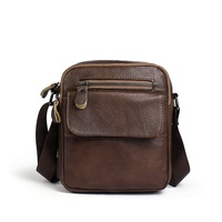 2019 Real Leather Men's Vintage Small Crossbody Bag