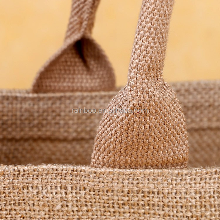 Eco friendly high quality custom logo print jute bag with zipper for sale