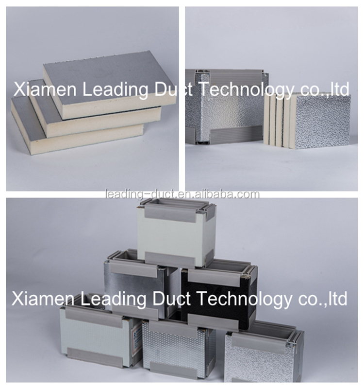 Pir Pre Insulated Air Duct Panel For Hvac Duct System