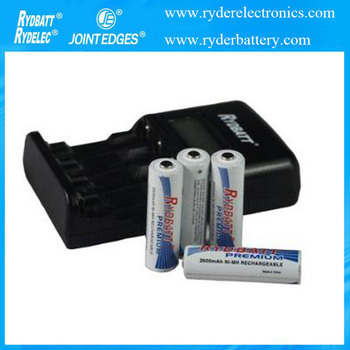 4 Bay High Speed Battery Charger LCD Screen Smart For AA AAA Ni