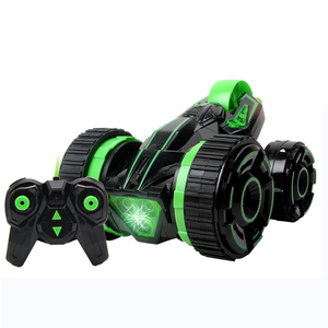 5Round big wheel Rc Car Stunt High Speed Flashing 3D Flip Green Red Carro electronic Controle Remoto Toys for kids