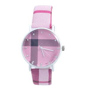 2015 New Fashion Luxury Brief Grid Leather Casual Wrist Watch for Men Women Brand Diamond Quartz Dress Watch best Gift