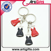 Promotion cheap oval shaped car key chain