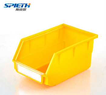 Plastic Boxes Warehouse Storage Stackable Yellow Hanging Storage Bins