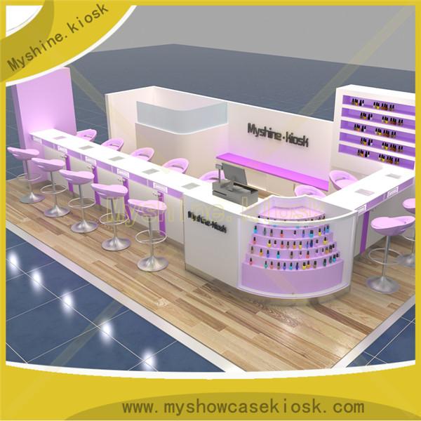 Myshine Kiosk beauty 3D salon furniture for pedicure kiosk design for sale